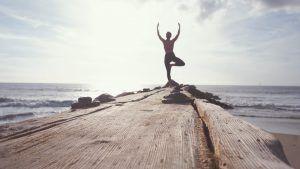 Yoga Pose at Beach